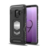 Samsung Galaxy S9 Hybrid Magnetic Car Mount With Card Slot Holder Case Cover