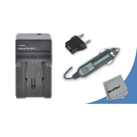 High Speed Quick AC/DC Charger Kit for Nikon Coolpix P5100 Digital Camera plus Car Charger Adapter