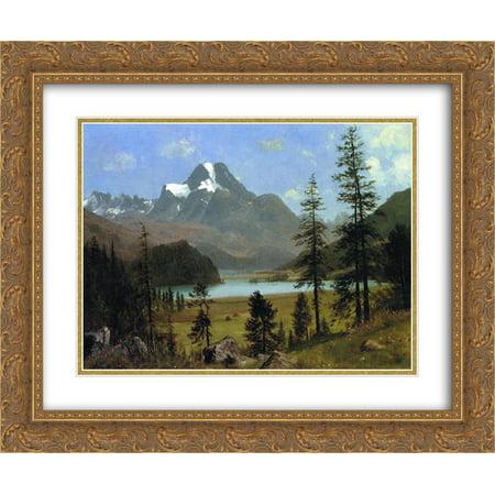 Albert Bierstadt 2x Matted 24x20 Gold Ornate Framed Art Print 'Long's Peak, Estes Park, (Albert Bierstadt Estes Park)
