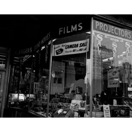 USA Massachusetts Boston camera shop window display Canvas Art -  (24 x