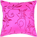"""Rizzy home T04470 18"""" x 18"""" hot pink polyester/ silk fabric decorative filled pillow"""