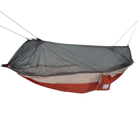Equip 1-Person Mosquito Hammock with Hanging Kit, Red Taupe