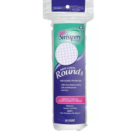 Organic Essentials Cotton Rounds (Swisspers Cotton Rounds 80S 100% Cotton )