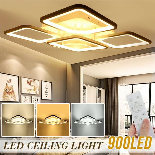 Art Modern Led Ceiling Light Fixture Chandeliers Surface Mount Kitchen Bedroom Living Room Lamp Home Lighting 3 Color Walmart Com Walmart Com