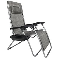 Zero Gravity Lounge Chair Widened Folding Chair Leisure Chair Gray
