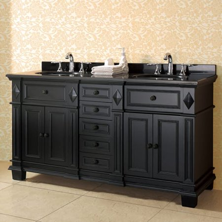 Miseno Mves60 60 Free Standing Vanity Set With Cabinet Granite Top Two