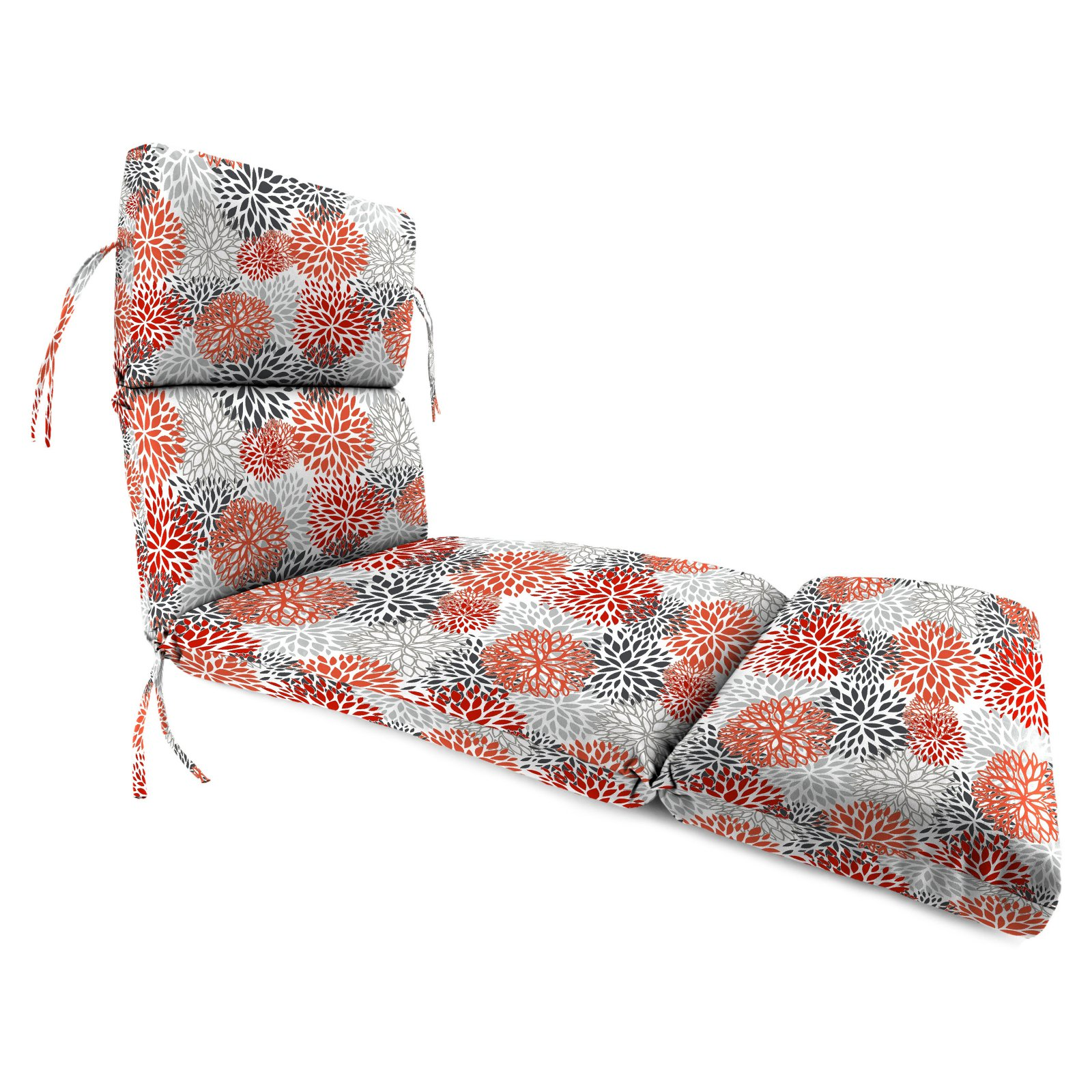 Jordan Manufacturing 74 in. French Edge Outdoor Bloom Chaise Lounge Cushion