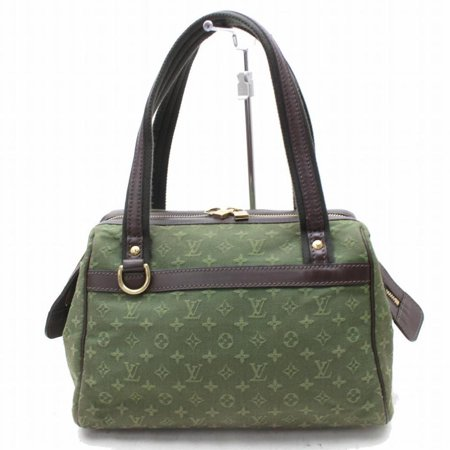 Louis Vuitton Green - Josephine Khaki Monogram Mini Lin Boston 868799 Green Canvas Shoulder Bag