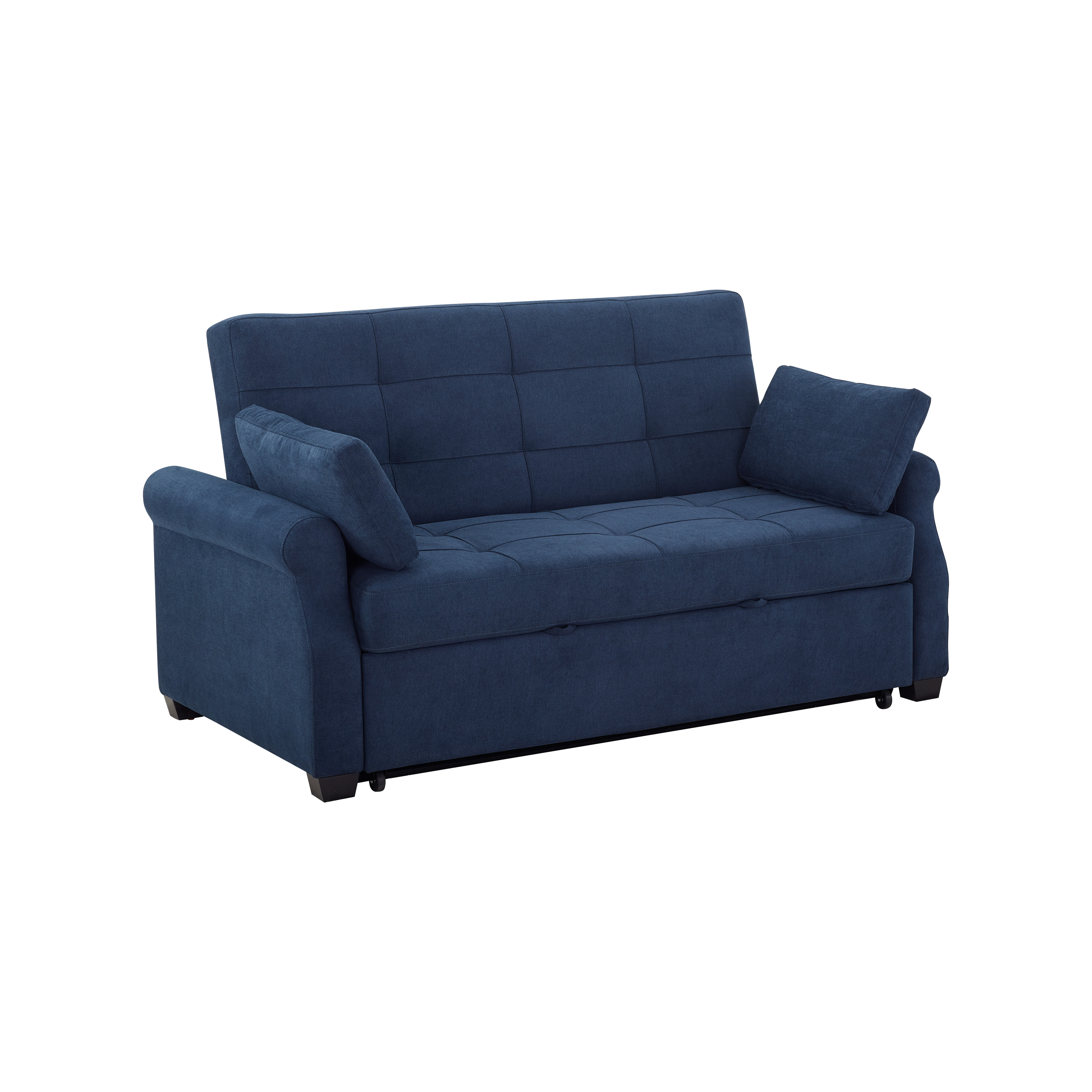 Serta Haiden Sofa Queen Bed With Upholstered Microfiber ...