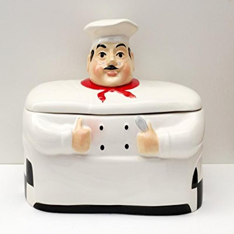 ACK Fat Chef Breadbox Toast Jar Canister Bistro