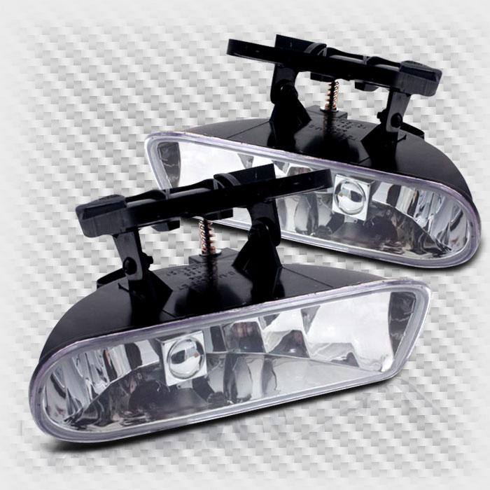 1999-2002 GMC Sierra 2000-2006 Yukon Bumper Fog Lights Replacement Lamp+Bulbs Pair 2000 2001 Pair Left+Right