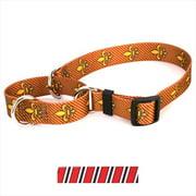 Yellow Dog Design M-TSRBW102M Team Spirit Red  Black and White Martingale Collar - Medium