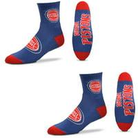 Detroit Pistons Women's Quarter-Length Socks Two-Pack Set