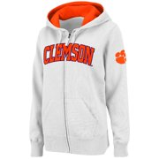 Clemson Tigers Stadium Athletic Women's Arched Name Full-Zip Hoodie - White
