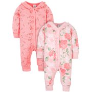 Modern Moments by Gerber® Baby Girls Organic Coveralls, 2-Pack