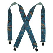 Size one size Men's Big and Tall Elastic Hand Tools Clip End Work Suspenders