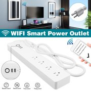 SM-SO306U 110V 10A  WiFi intelligen Alexa|Google Home Voice Control Smart Power Outlet 2 USB(2.1A fast charge)+4 Outlet  Power Strip Surge Protector,White