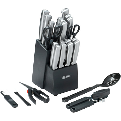 Farberware 25 Piece Stainless Steel Cutlery-Knife Block Set