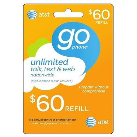 At  60 Att Refill Card Top Up Prepaid Refill Card Wireless Montly  Mail Delivery