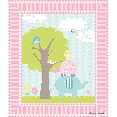 Springs Creative Nursery Sweet Meadow Panel, Fabric By the Yard