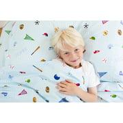 Wildkin Dinosaur Land Super Soft 100% Cotton Sheet Set - Twin