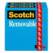 Scotch Removable Tape Refills, 1 in. Core, 2 Rolls