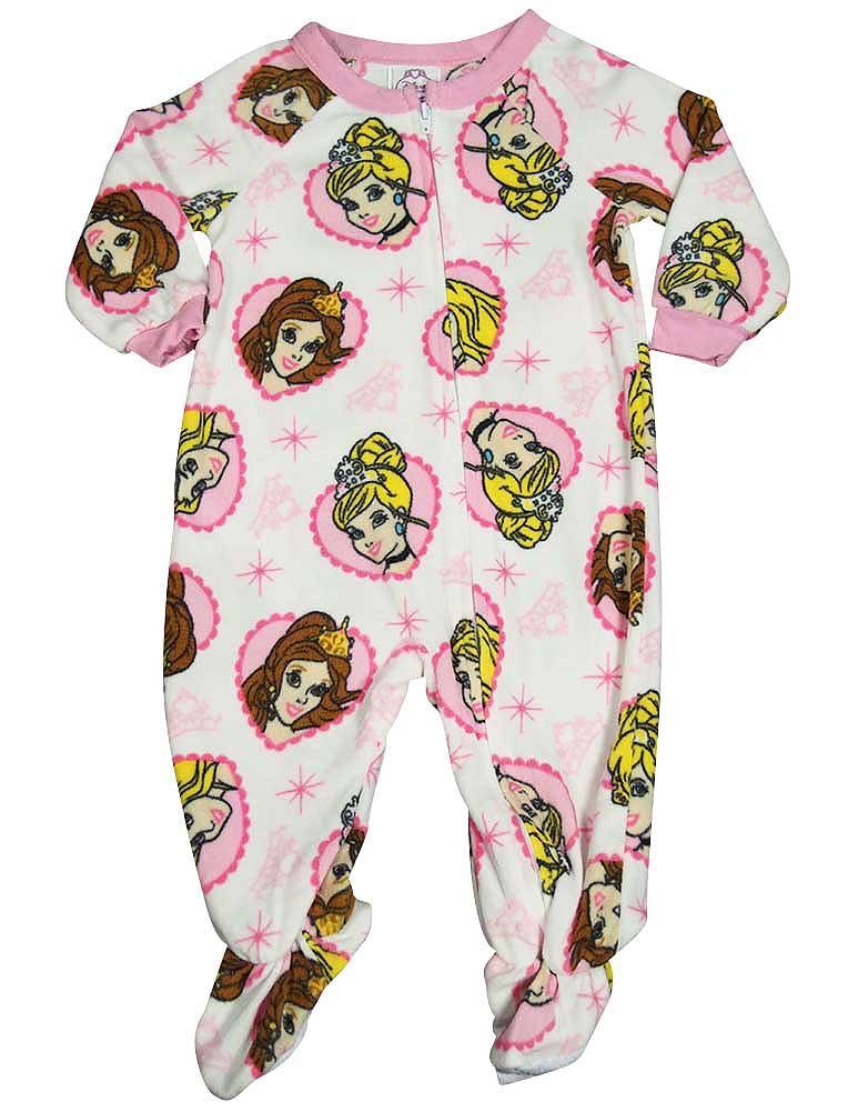 Disney Princess - Baby Girls Footed Blanket Sleeper Pink / 18 Months