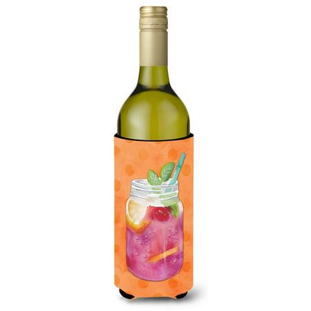 Mason Jar Cocktail Orange Polkadot Wine Bottle Beverge Insulator Hugger BB8253LITERK](Mason Bottles)
