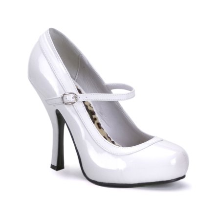 High Heeled Mary Jane Shoes (4 1/2 Inch Patent Mary Jane Pumps Women's Sexy High Heel Shoes)