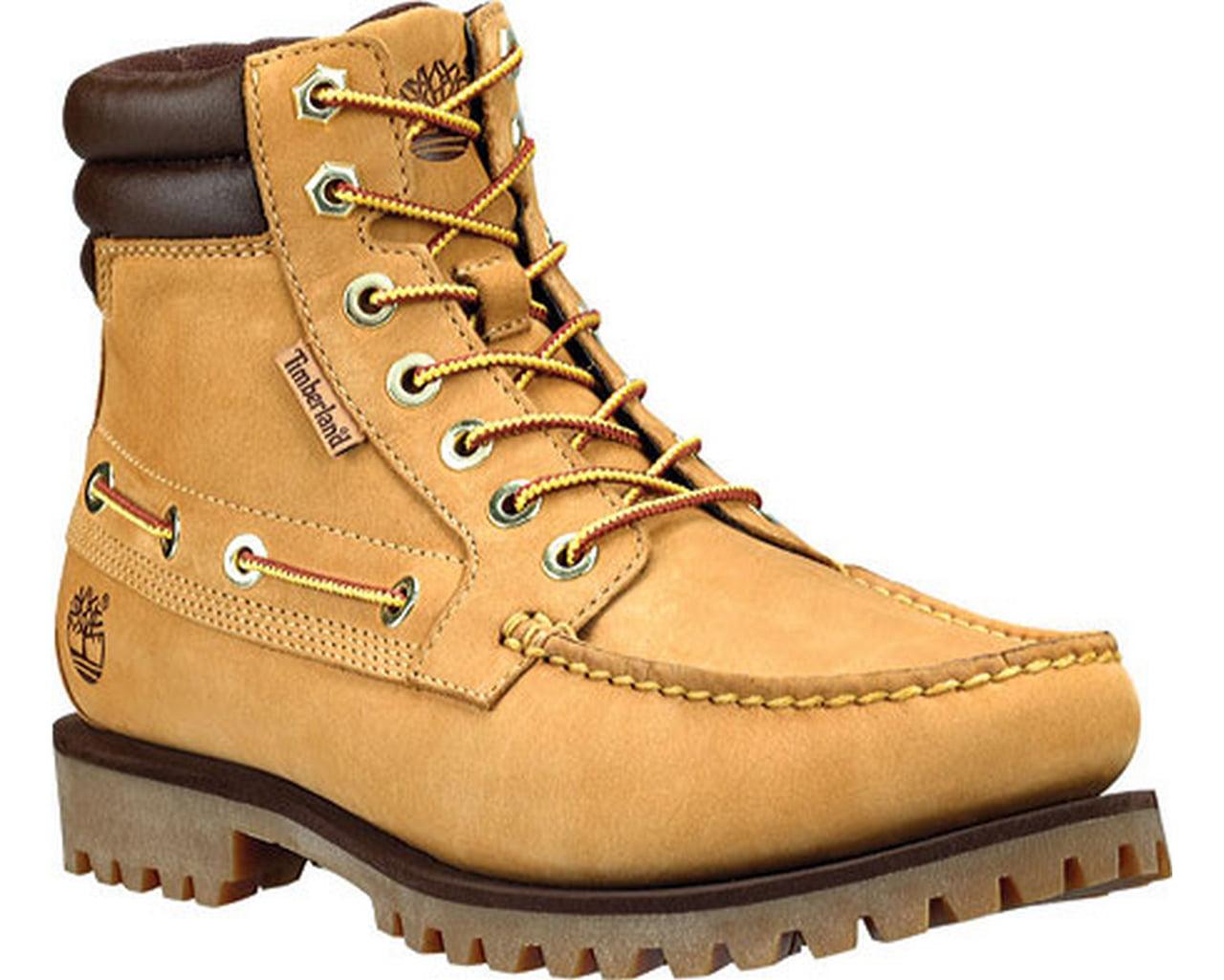 Timberland 7-Eye Moc Toe Wheat Men's Boots 72540 by Timberland