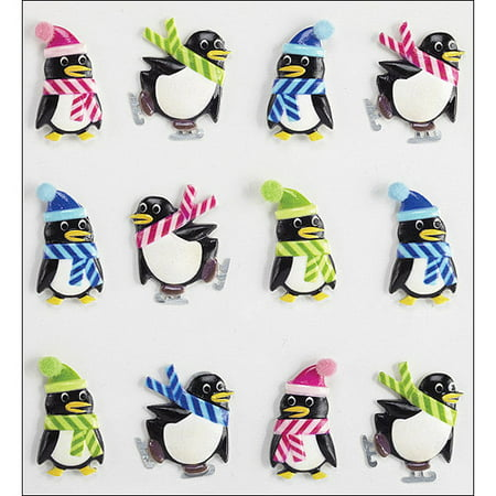 Jolees Christmas Stickers  Holiday Penguins