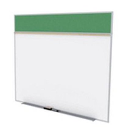 Ghent SPC58A-V-197 5 ft. x 8 ft. Style A Combination Unit - Porcelain Magnetic Whiteboard and Vinyl Fabric Tackboard - Spruce