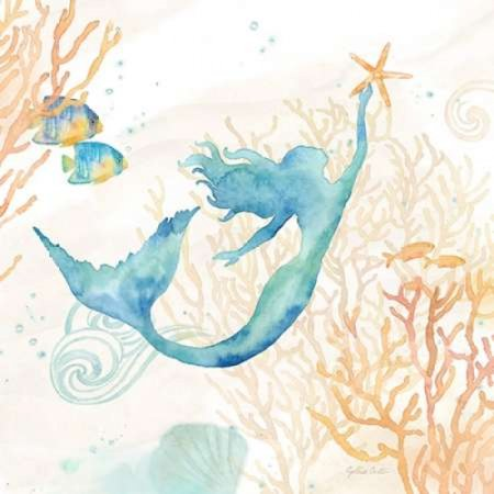 Under the Sea Mermaid Poster Print by Cynthia Coulter