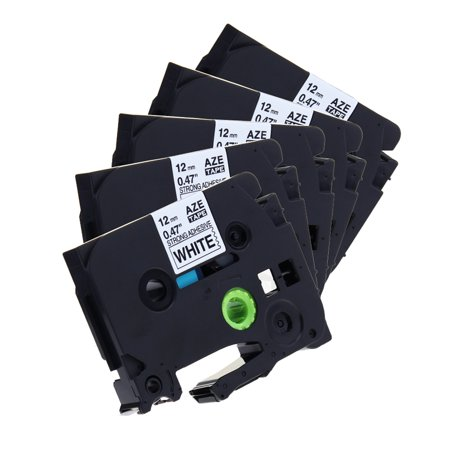 5PK Great Quality Compatible For Brother P-Touch Laminated Tze Tz Label Tape Cartridge 12mmx8m (TZe-S231 Extra Strength Black on White)