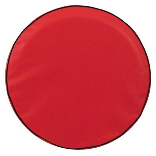 Tire Cover by Holland Bar Stool - Plain Red, 33'' x 12.50''