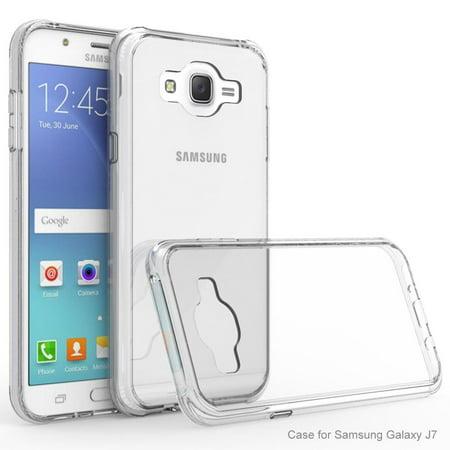 Galaxy J7 2015 Case - Armatus Gear (TM) Ultra Slim Anti-Scratch Acrylic Clear Case with TPU Grip Bumper Hybrid Phone Cover For Samsung Galaxy J7 (Mercury Gear Case)