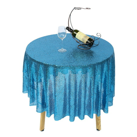 47 Sequined Tablecloth Round Table, Round Table Cloths