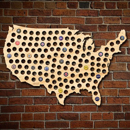 Giant XL USA Beer Cap Map (Giant Usa Map)