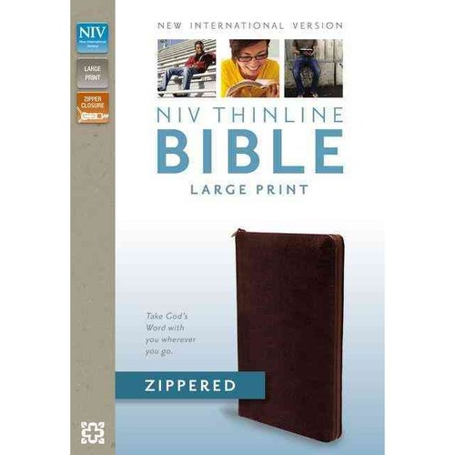 Holy Bible: New International Version, Burgandy, Bonded Leather, Zippered, Thinline