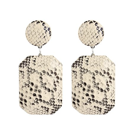 Retro Spike (KABOER  Fashion Retro Exaggerated Leopard Geometric Snake Skin Pattern Earrings )