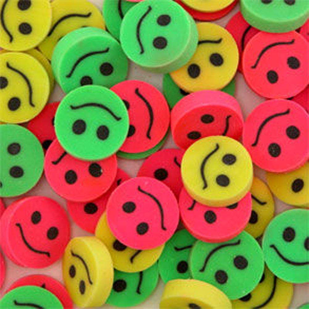 Smile Face Erasers by US Toy