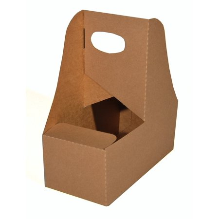 25 Two Handle - Southern Champion Tray 2795 Kraft Paperboard Drink Carrier with Handle, Hold 2 Cups, 25 Piece