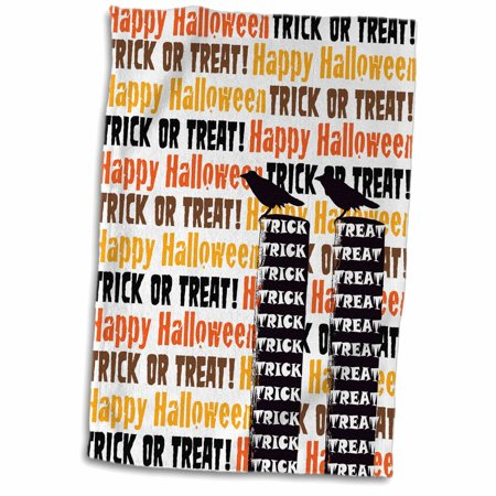 3dRose Halloween Trick or Treat Raven on Post Fun Art - Towel, 15 by 22-inch](Fun Halloween Baking Treats)