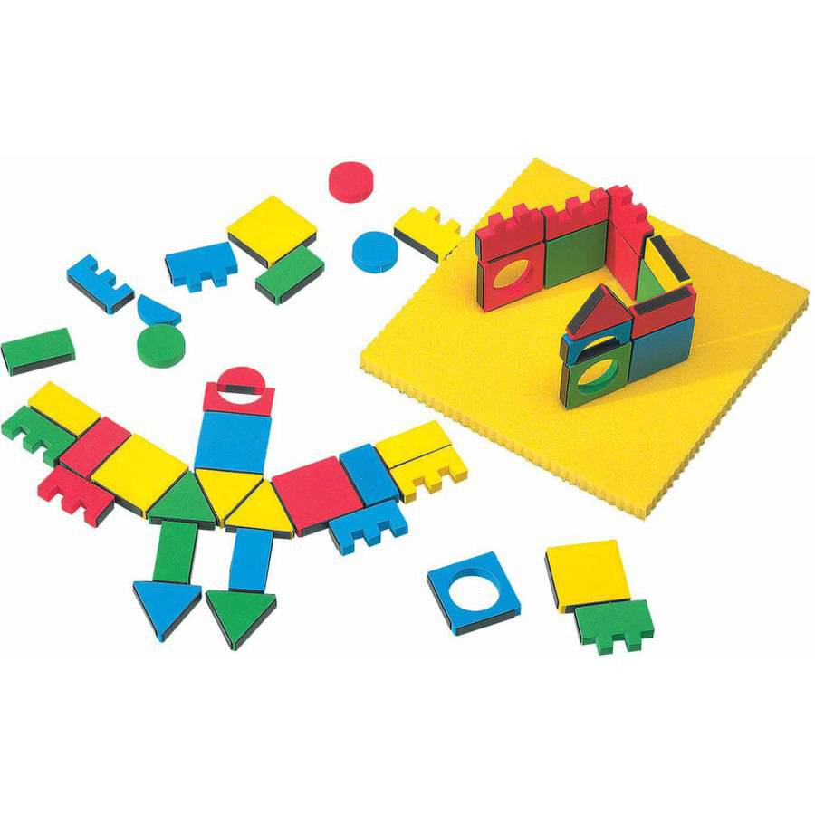 Edushape 3-D Magnetic Magic Shapes Classroom Pack Set, Assorted Colors, Ages 4 and Up, Set of 54