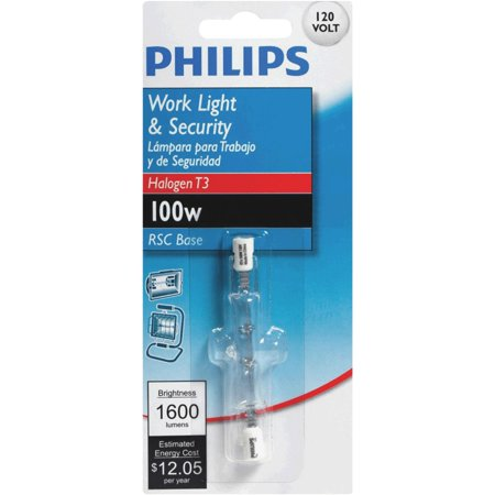 Electrical Light Bulb Double Contact (Philips T3 120V Double Ended Halogen Light Bulb )