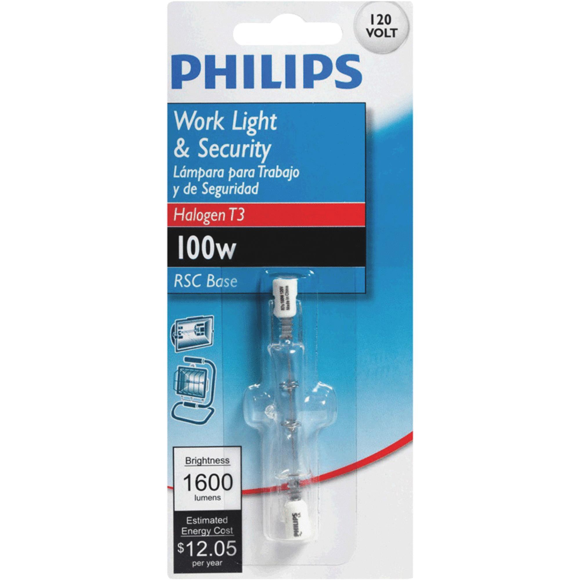 Philips T3 120V Double Ended Halogen Light Bulb