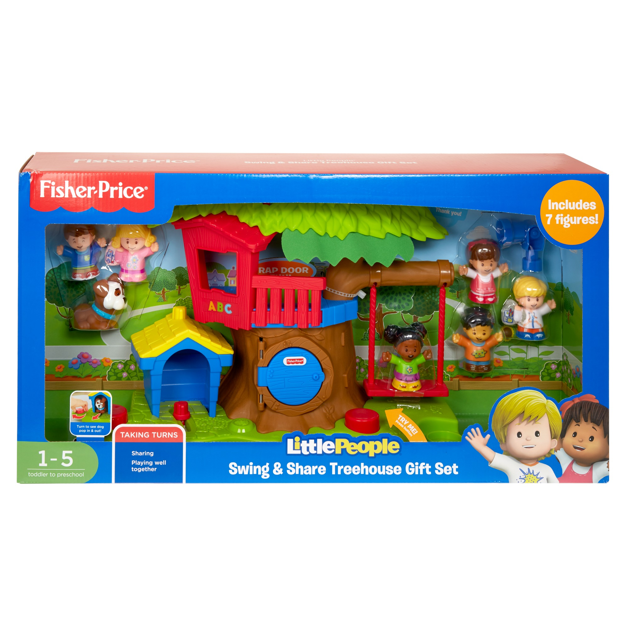 Little People Swing & Share Treehouse Gift Set by Fisher-Price