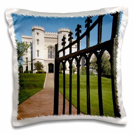 3dRose Capitol Building, Baton Rouge, Louisiana USA - US19 CMI0031 - Cindy Miller Hopkins - Pillow Case, 16 by 16-inch - Party Time Baton Rouge
