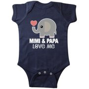 Mimi and Papa Love Me Grandkids Gift Infant Creeper