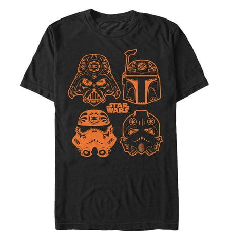 Star Wars Men's Halloween Sugar Villains Helmets T-Shirt